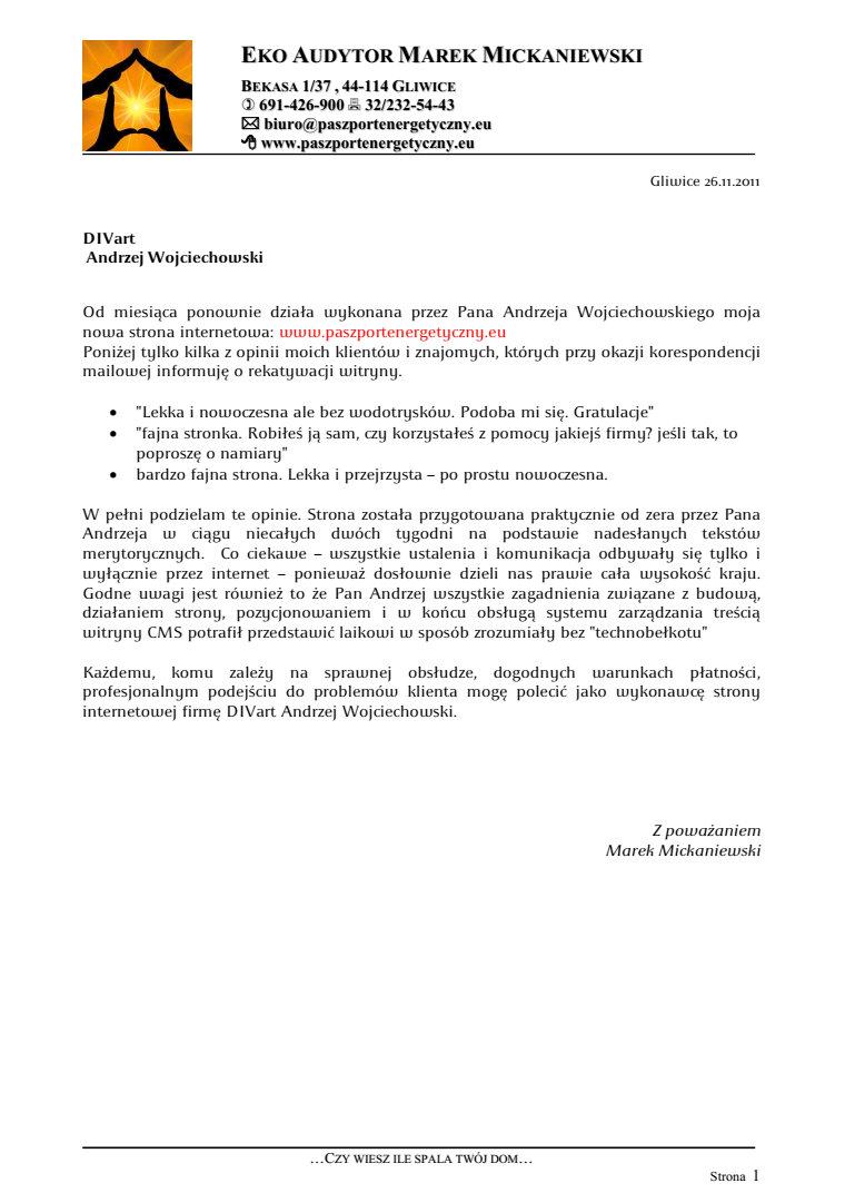 List-referencyjny-Eko-Audytor-Marek-Mickaniewski