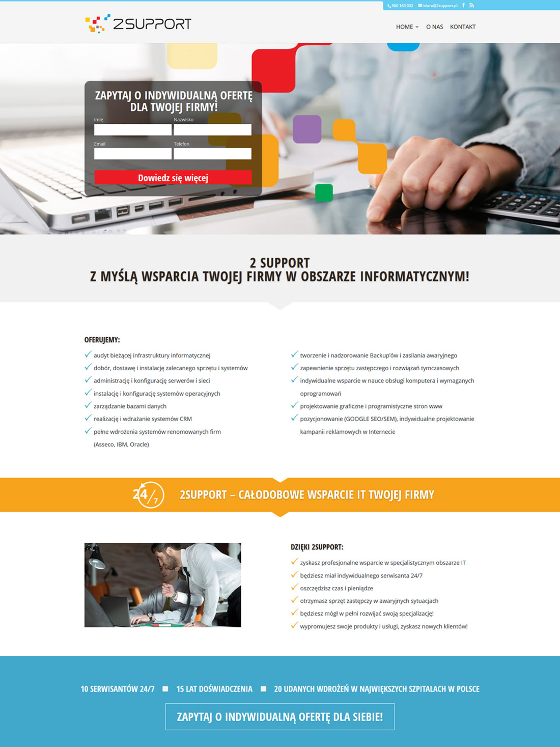 2 SUPPORT Landing Page