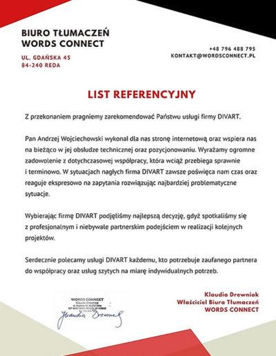 biuro tłumaczeń words connect referencje